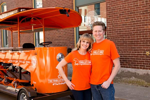 Brian Ash and Cortney Little-Ash of Trolley Bike