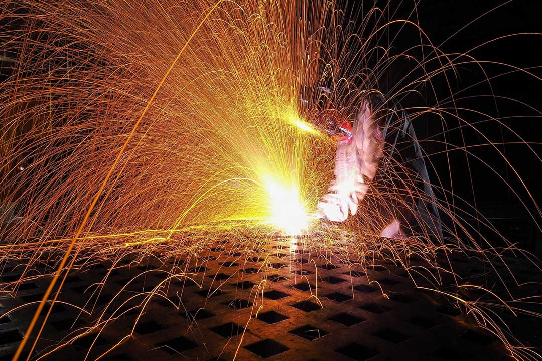 Machinery causes sparks