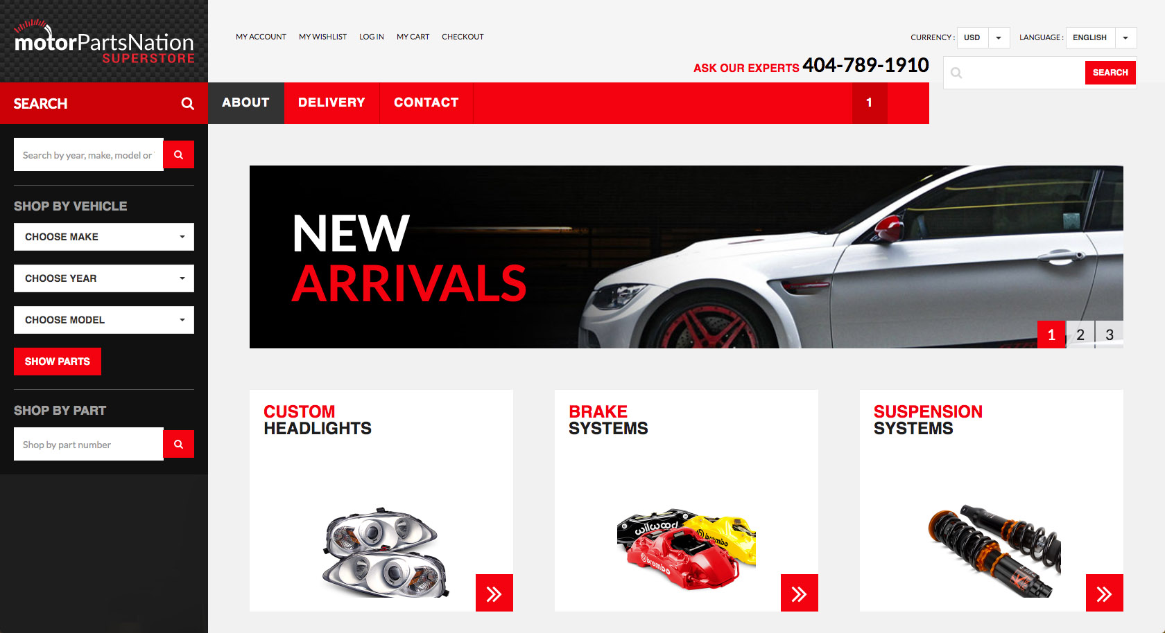 Motorparts Nation website